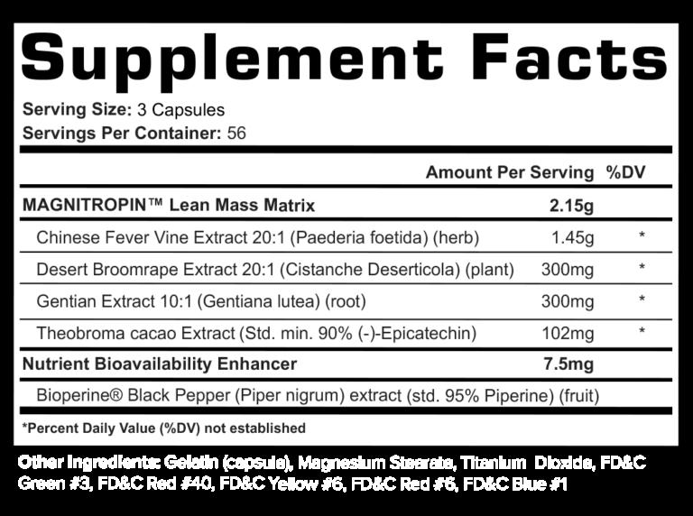 Magnitropin Supplement Facts